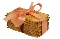 Fond de blanc de biscuits de biscuits Images stock