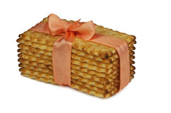 Fond de blanc de biscuits de biscuits Photo libre de droits