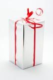 Fond de blanc de cadre de cadeau Photographie stock libre de droits