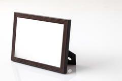 Fond de blanc de cadre de photo images stock