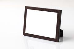 Fond de blanc de cadre de photo Image stock