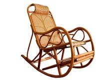 Fond de blanc de chaise de basculage Photographie stock libre de droits