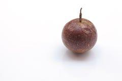 Fond de blanc de passiflore comestible de passiflore Images libres de droits