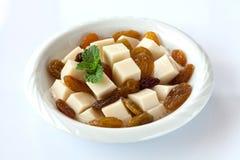 Fond de blanc de raisin sec de pudding Images libres de droits