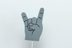 Fond de blanc de signe de rock de mousse d'Eva photographie stock libre de droits