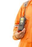 Fond de blanc de talkie-walkie Photo libre de droits