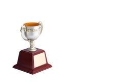 Fond de blanc de trophée Photos libres de droits