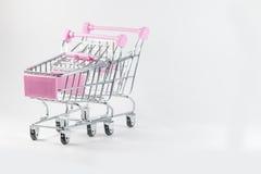 Fond de blanc de voiture de supermarché Photo libre de droits