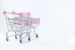 Fond de blanc de voiture de supermarché Photos libres de droits