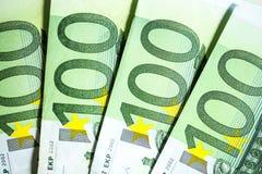 Fond de blanc de plusieurs billets de banque Photos libres de droits