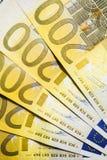Fond de blanc de plusieurs billets de banque Image libre de droits