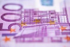 Fond de blanc de plusieurs billets de banque Photo stock