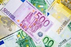 Fond de blanc de plusieurs billets de banque Photo libre de droits