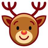 Fond de blanc de Rudolph The Reindeer Isolated On de bande dessinée Photos stock