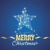 Fond de bleu de chimères de symbole d'étoile de Noël Photographie stock