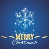 Fond de bleu de chimères de symbole de flocon de neige de Noël Image libre de droits