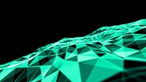 Fond de bleu d'abstact du feu Illustration de la couleur 3D d'explosion Image libre de droits