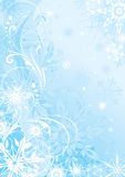 Fond de bleu d'hiver Photo stock