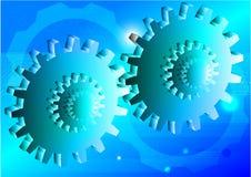 Fond de bleu d'illustration de vecteur de concept de technologie de vitesse d'ingénierie Illustration de Vecteur