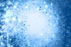 Fond de bleu de l'hiver Photographie stock libre de droits