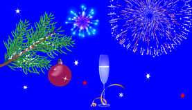Fond de bleu de Noël Images stock