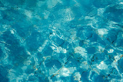 Fond de bleu de piscine Photos libres de droits