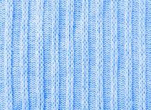 Fond de bleu de texture de tricots Photographie stock libre de droits