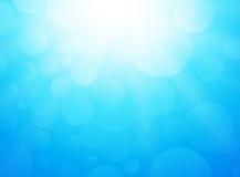 Fond de bleu glacier avec le bokeh et les rayons illustration libre de droits