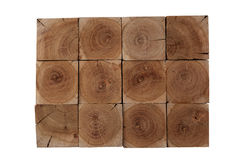 Fond de blocs en bois d'arbre d'amande Image libre de droits