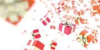 Fond de boîte-cadeau Photos stock
