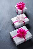 Fond de boîte-cadeau d'amour de vacances de jour de valentines Images libres de droits