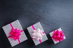 Fond de boîte-cadeau d'amour de vacances de jour de valentines Photographie stock libre de droits