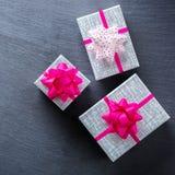 Fond de boîte-cadeau d'amour de vacances de jour de valentines Photos libres de droits