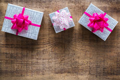 Fond de boîte-cadeau d'amour de vacances de jour de valentines Photographie stock