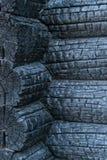 Fond de bois carbonisé d'effets de feu photographie stock libre de droits