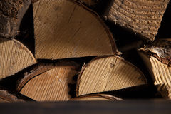 Fond de bois de chauffage Photos libres de droits