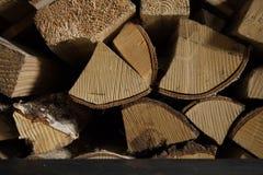 Fond de bois de chauffage Photo stock