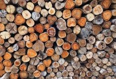 Fond de bois de chauffage Image libre de droits
