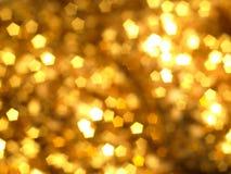 Fond de bokeh d'or Images libres de droits