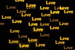 Fond de bokeh d'amour de jour de valentines de St Photographie stock libre de droits