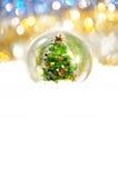 Fond de bokeh d'arbre de Noël Image libre de droits