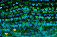 Fond de bokeh de coeur, concept d'amour Photos stock