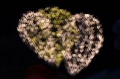 Fond de bokeh de coeur, concept d'amour Photographie stock libre de droits