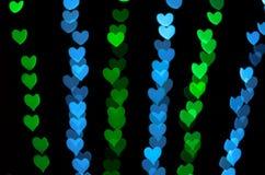 Fond de bokeh de coeur, concept d'amour Photos libres de droits