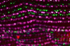 Fond de bokeh de coeur, concept d'amour, concept d'affaires Photographie stock