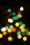 Fond de bokeh de lumières de Noël. Images libres de droits