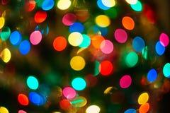 Fond de Bokeh de Noël illuminé Photos libres de droits