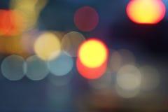 Fond de bokeh de réverbères de ville de nuit Photo stock