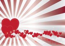 Fond de bokeh de Valentine Image libre de droits