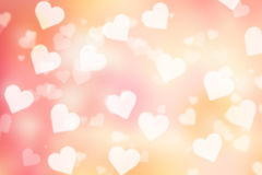 Fond de bokeh de Valentine Photos stock